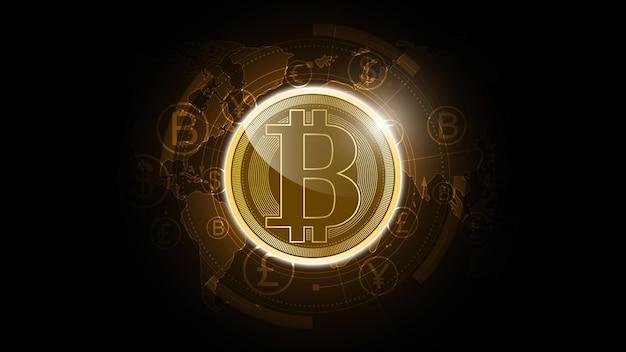 Hintergrund der bitcoin-kryptowährung für digitale geldnetzwerktechnologie technology