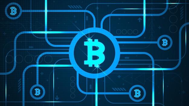 Hintergrund der bitcoin-kryptowährung