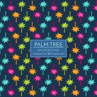 Hintergrund der bunten palmen