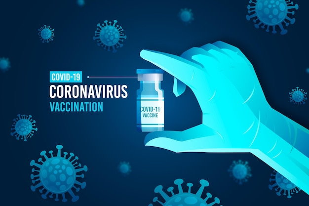 Hintergrund der coronavirus-impfung Premium Vektoren