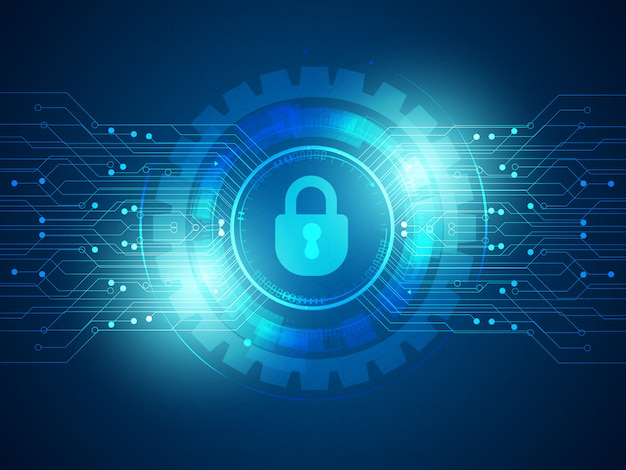 Hintergrund der cyber-sicherheitstechnologie