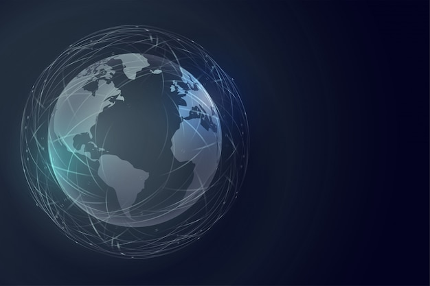 Hintergrund der digitalen erdtechnologie mit globaler verbindung