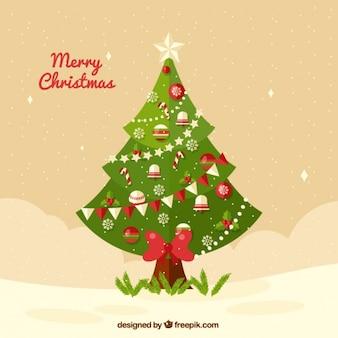 Hintergrund der eleganten weihnachtsbaum