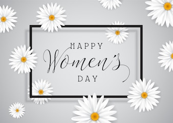 Hintergrund der Frauen Tagesmit Gänseblümchen