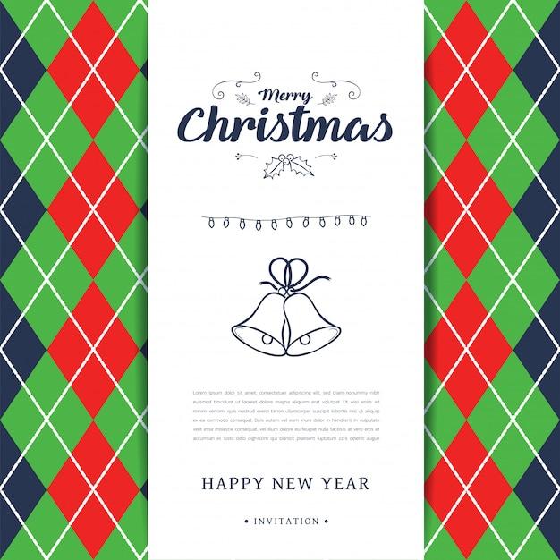 Hintergrund der frohen weihnachten auf einladungskartendesign.