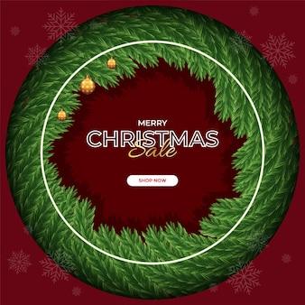 Hintergrund der frohen weihnachten mit weihnachtselement premium-vektor