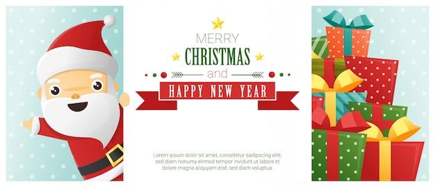 Hintergrund der frohen weihnachten und des guten rutsch ins neue jahr
