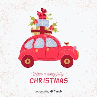 Hintergrund der frohen Weihnachten