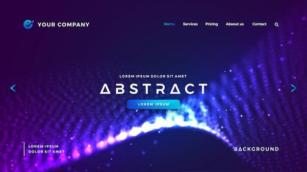 Hintergrund der futuristischen und technologie-website.