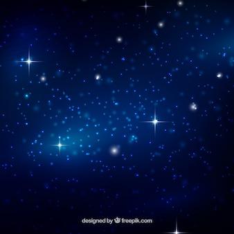 Hintergrund der galaxie in blauen tönen