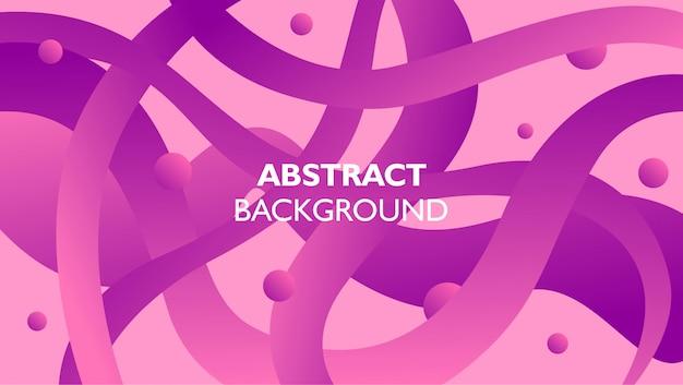 Hintergrund der gekrümmten linie mit kreisform mit rosa und purpurroter farbe