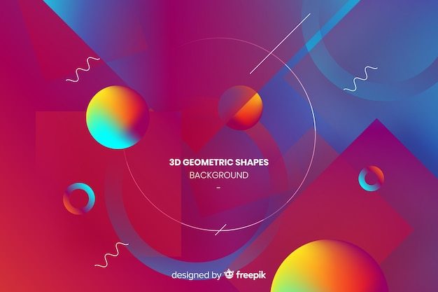 Hintergrund der geometrischen formen 3d