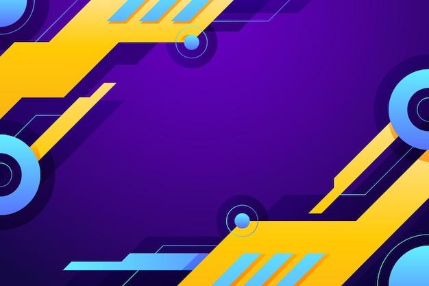 Hintergrund der geometrischen formen mit farbverlauf
