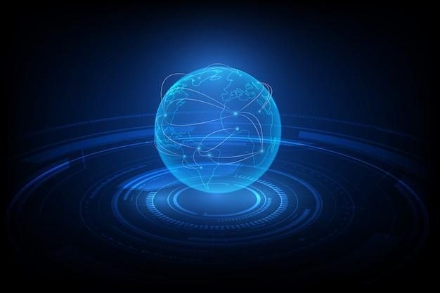 Hintergrund der globalen netzwerkverbindung