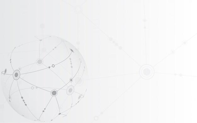 Hintergrund der globalen netzwerkverbindungstechnologie
