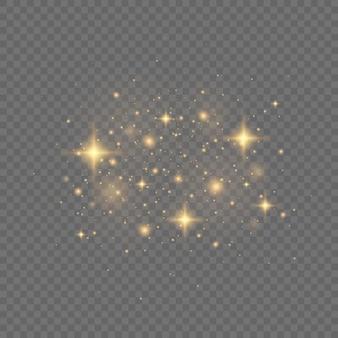 Hintergrund der goldenen konfetti und glitzer-textur