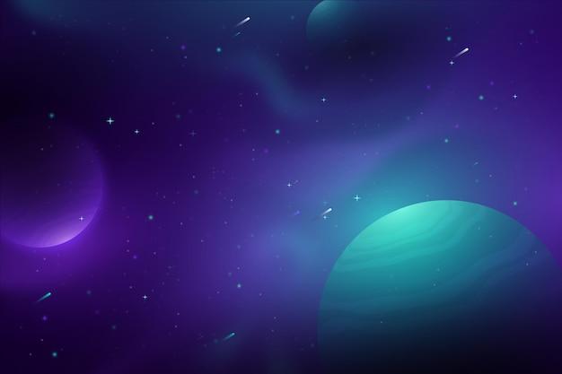 Hintergrund der hellen lichtgalaxie des gradienten