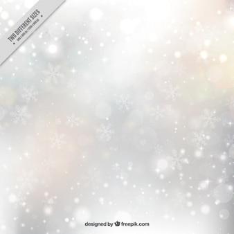 Hintergrund der hellen schneeflocken