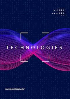 Hintergrund der künstlichen intelligenz. digitale technologie, deep learning und big data-konzept. abstraktes tech-visual für systemvorlage. hintergrund der neuronalen künstlichen intelligenz.