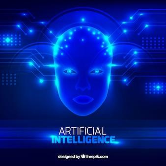 Hintergrund der künstlichen intelligenz in der abstrakten art