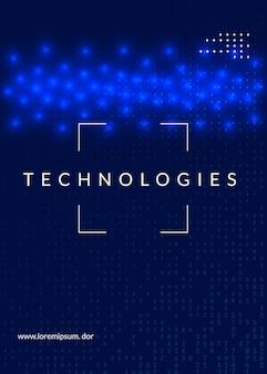 Hintergrund der künstlichen intelligenz. technologie für big data, visualisierung, deep learning und quantencomputing. designvorlage für informationskonzept. hintergrund der künstlichen cyber-intelligenz.