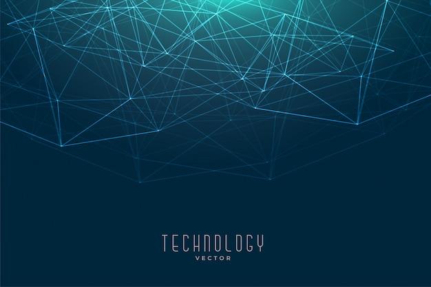 Hintergrund der low poly network mesh-verbindungstechnologie