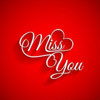 Hintergrund der miss you