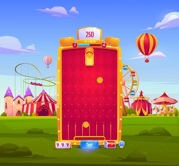 Hintergrund der mobilen spiel-app, anwendungsoberfläche