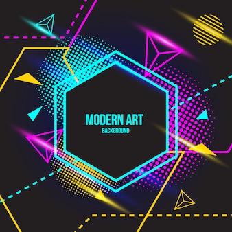 Hintergrund der modernen kunst