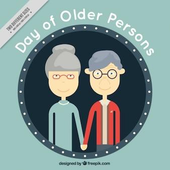 Hintergrund der netten älteren ehepaar