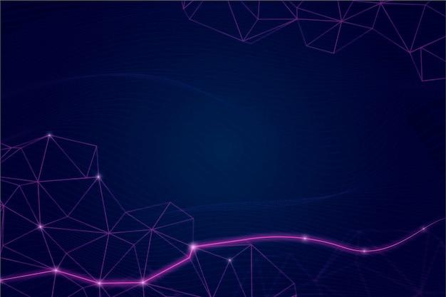 Hintergrund der netzwerkverbindung mit farbverlauf
