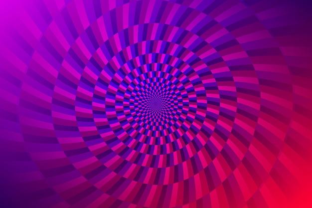 Hintergrund der optischen täuschung mit farbverlauf