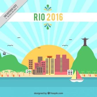 Hintergrund der rio 2016 mit landschaft