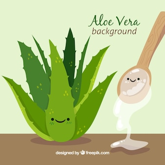 Hintergrund der schönen aloe vera pflanze