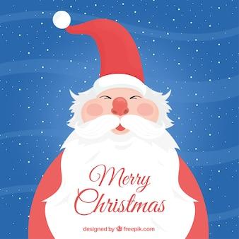 Hintergrund der schönen weihnachtsmann