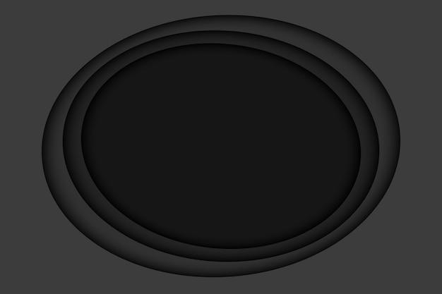 Hintergrund der schwarzen papierschicht. abstraktes halloween mit schwarzen papierschnittschichten.