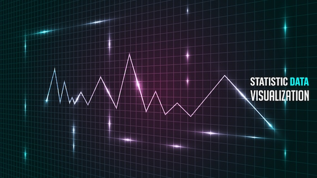 Hintergrund der statistischen datenanalyse-visualisierung
