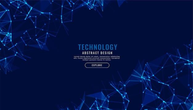 Hintergrund der technologienetzwerk-mesh-verbindungslinien