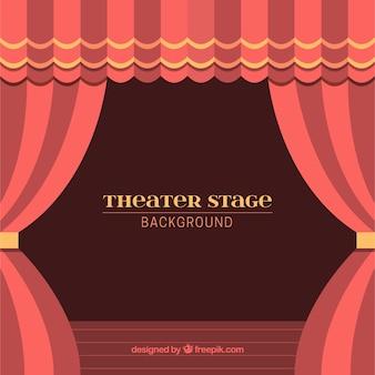 Hintergrund der theaterbühne mit vorhängen in den roten tönen