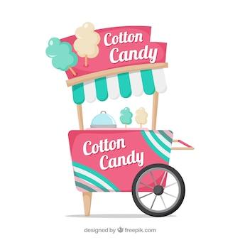 Hintergrund der vintage-süßigkeiten-wagen
