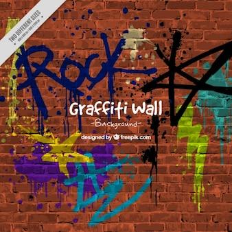Hintergrund der wand mit graffitis