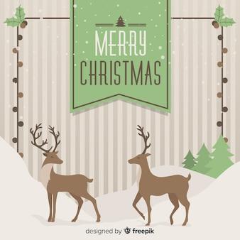 Hintergrund der weihnachtsrentiere