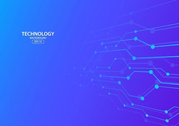 Hintergrund des abstrakten digitalen technologiekonzepts. illustration