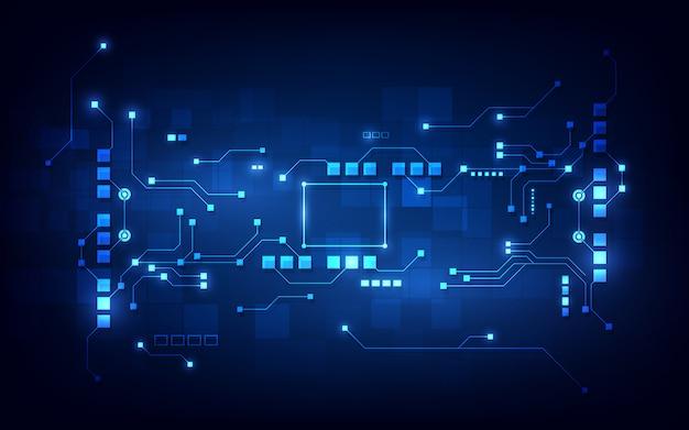 Hintergrund des abstrakten schaltungsnetzwerk-blockchain-konzepts