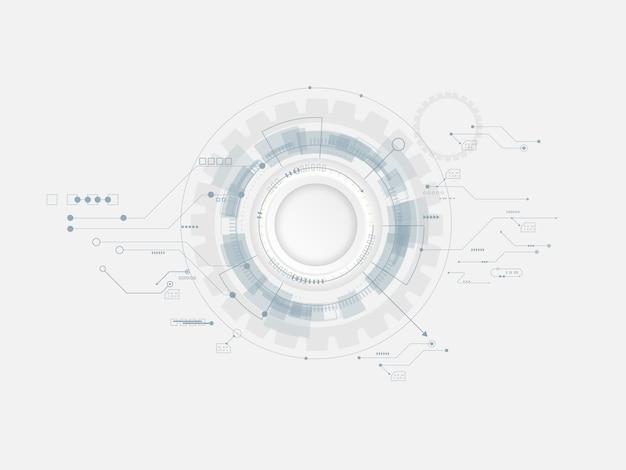 Hintergrund des abstrakten technologiezahnradkreises