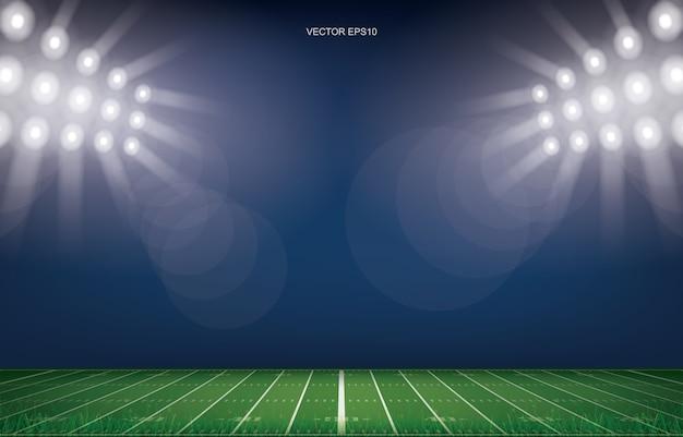 Hintergrund des american-football-feldstadions