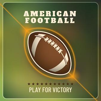 Hintergrund des amerikanischen fußballs