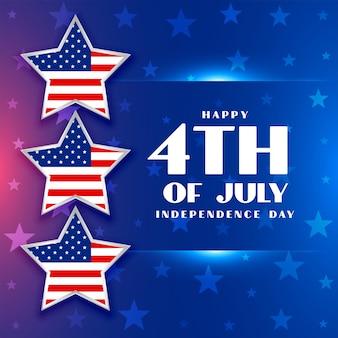 Hintergrund des amerikanischen unabhängigkeitstags für den 4. juli