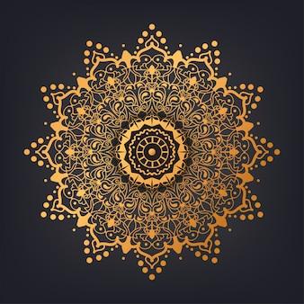 Hintergrund des arabischen islamischen stils des luxusmandalamusters