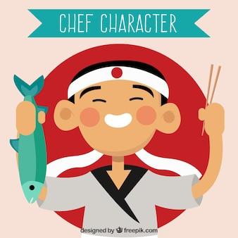 Hintergrund des asiatischen kochs
